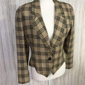 Carlisle Plaid vintage blazer size 8